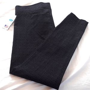 NWT Stretchy Black Patterned Dress Pants